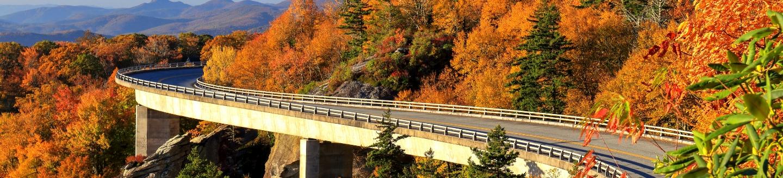Blue Ridge Parkway in fall.