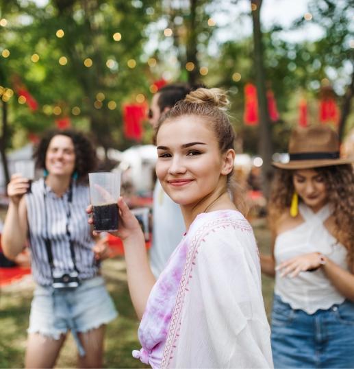 Girl at festival.