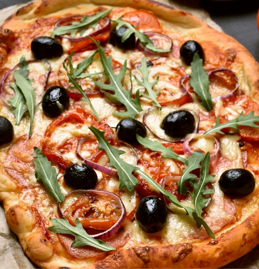Olive pizza.