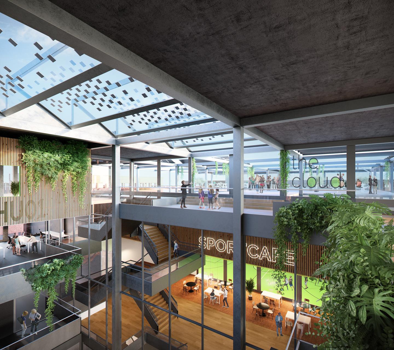Berlijnplein_Utrecht_School_duurzaam_dak_interieur_schoolplein_gymzaal_SVP