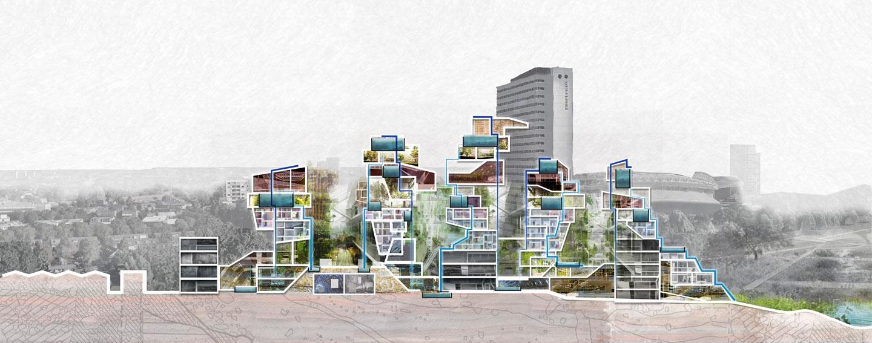 SVP_stad_van_de_toekomst_Utrecht_doorsnede_waterlinieweg