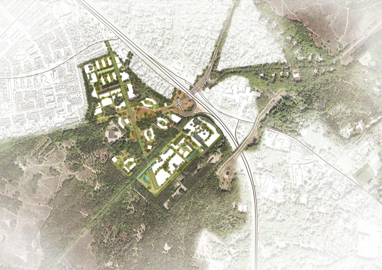 Crailo_Bussum_Hilversum_Laren_stedenbouwkundig_plan_Masterplan_landschapskaart