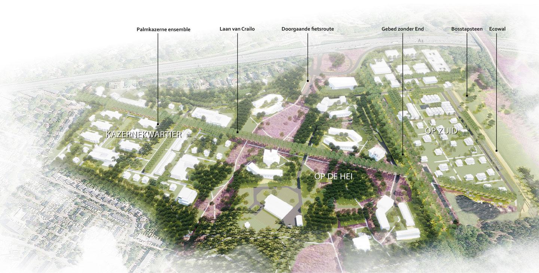 Crailo_Bussum_Hilversum_Laren_stedenbouwkundig_plan_Masterplan_plankaart