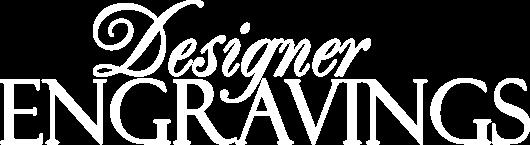 Designer Engravings logo white