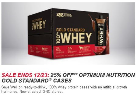 Box of Optimum Nutrition Gold Standard Whey