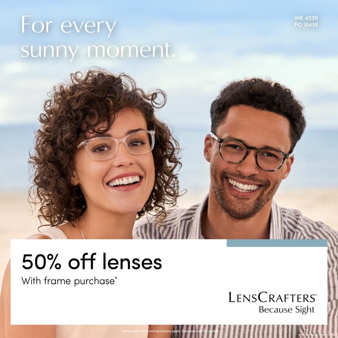 50% off lenses poster
