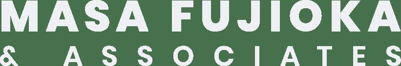 Masa Fujioka and Associates White Logo Word Mark