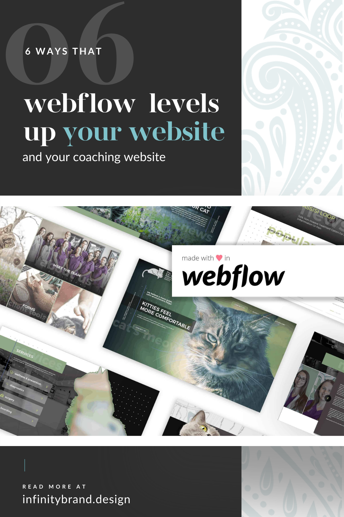 Updating your blog or adding content to your coaching website doesn't have to be difficult. Learn how the website platform, Webflow, simplifies updating your coaching or heart-centered business website content + BONUS: No more maintenance!