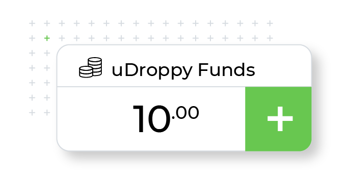uDroppy funds card