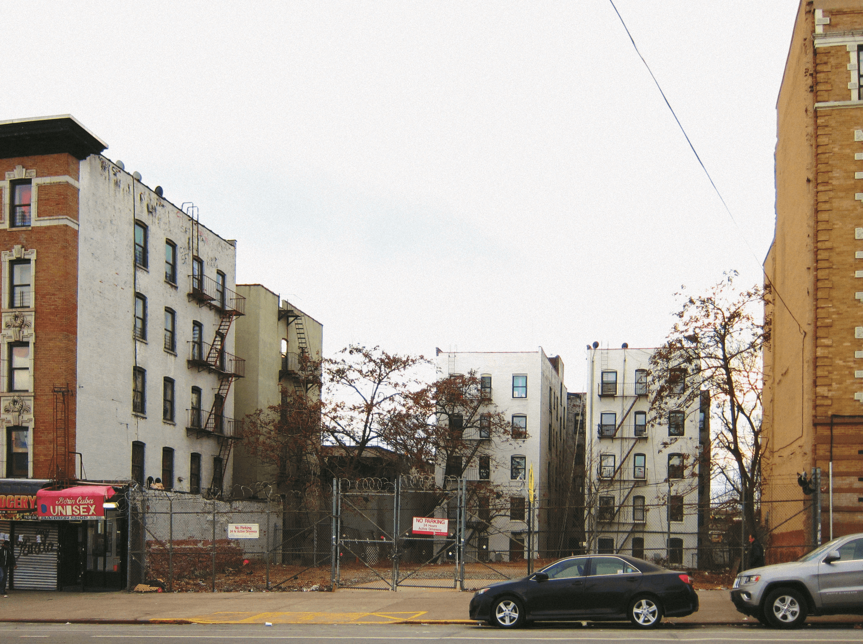 Photograph of a vacant lot the MTA owns that could be used for development