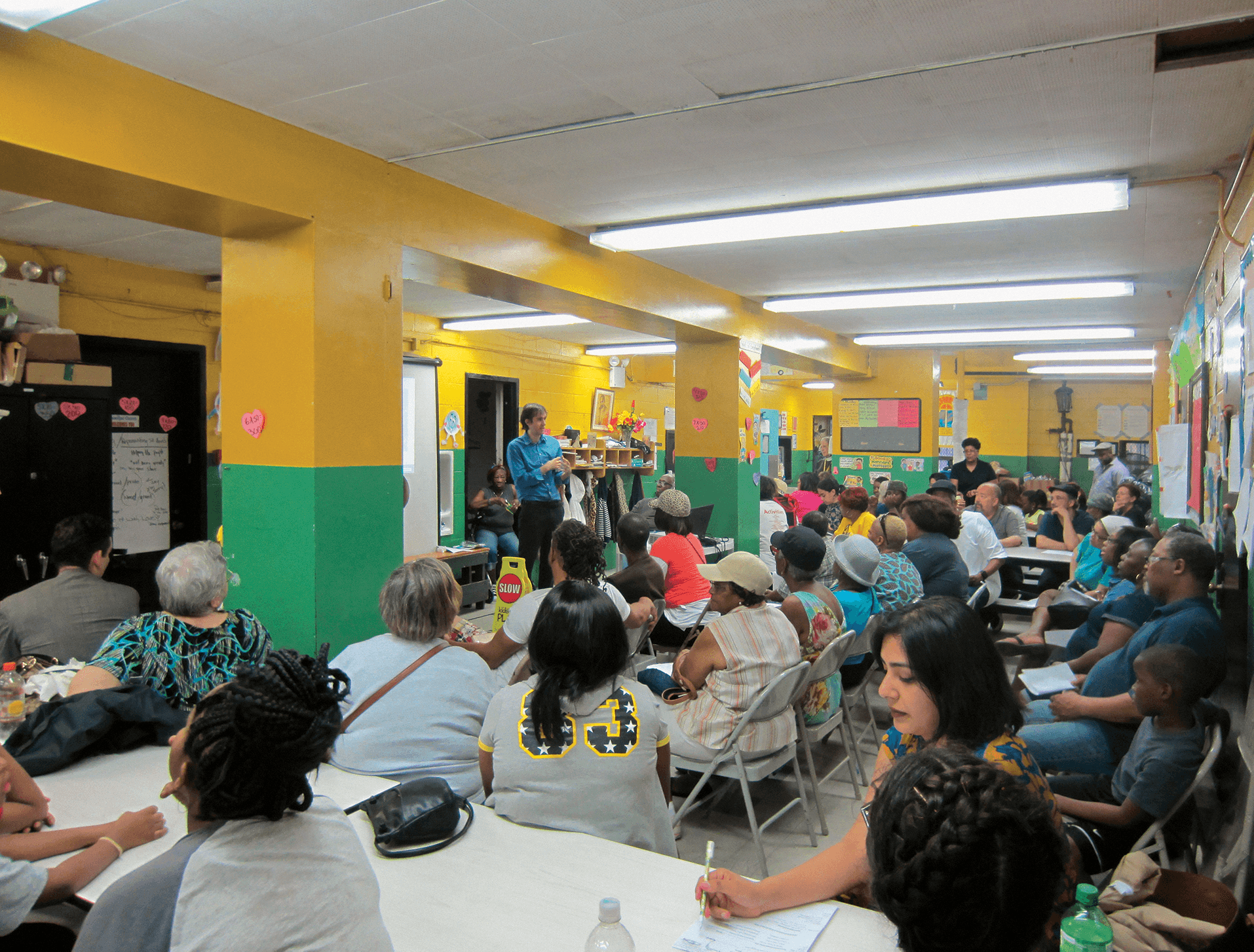 May 31, 2016  Visioning Session held in a classroom with a diverse group of people.