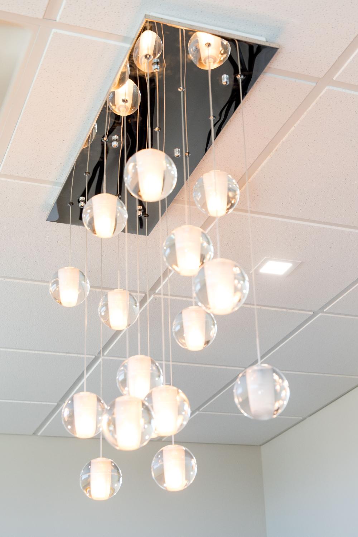 round glass light bulbs hanging