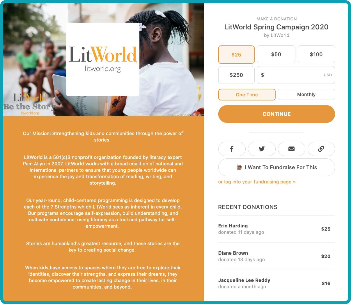 LitWorld Spring Campaign 2020
