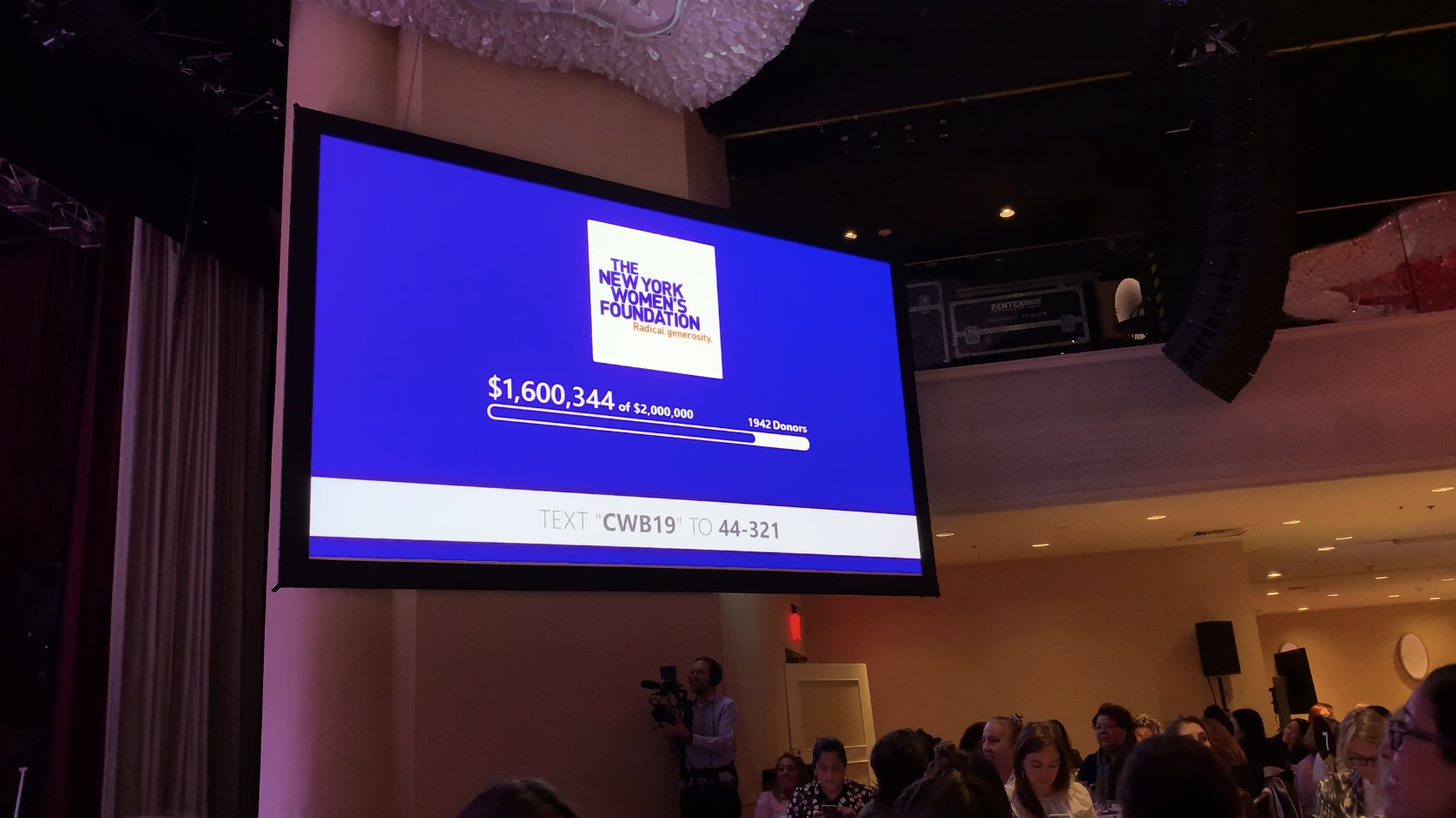 New York Women's Foundation Live Display in their Anual Breakfast 2019