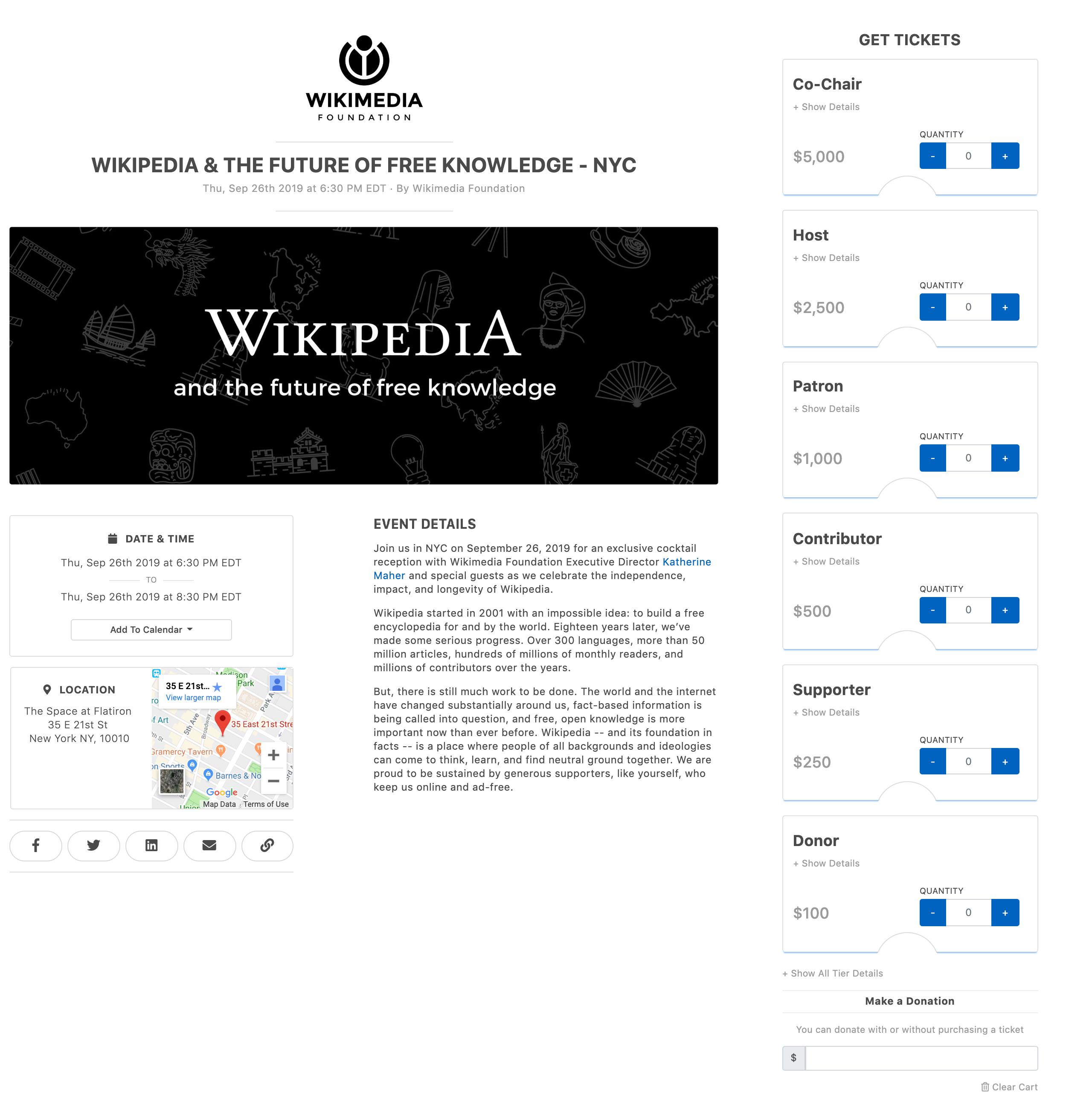 Wikipedia Event