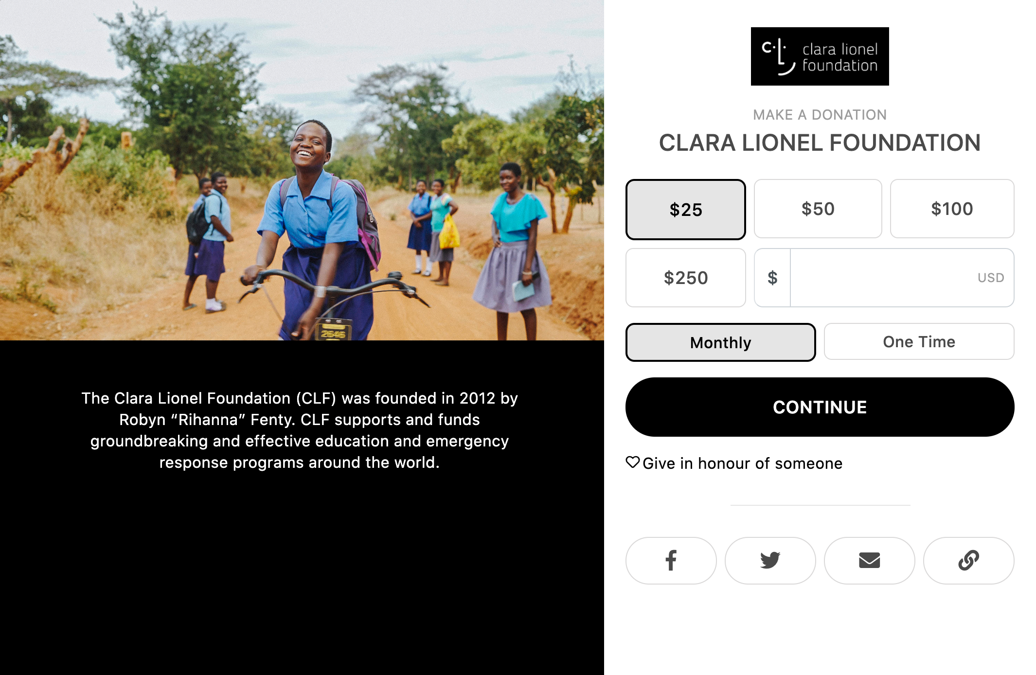 Clara Lionel Foundation Default Template