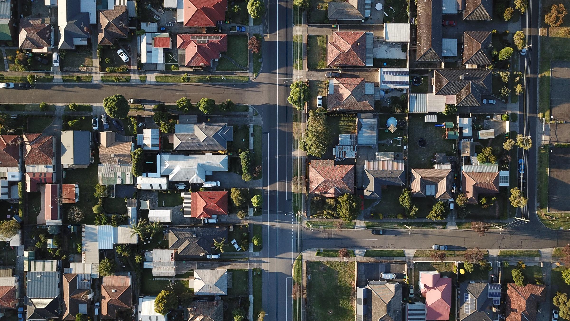 Neighborhood with homes