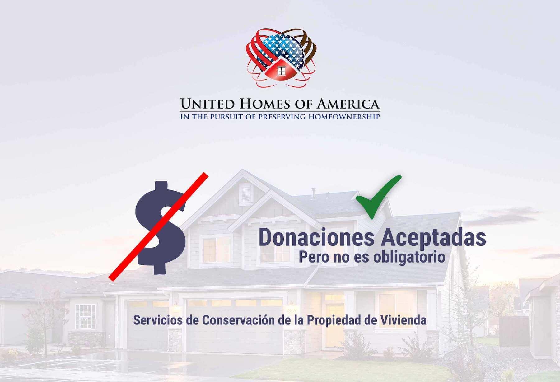 Servicios de conservación de la propiedad de vivienda de la UHA: se aceptan donaciones pero no se requieren