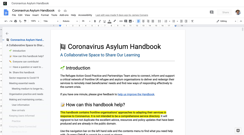 Coronavirus Asylum Handbook