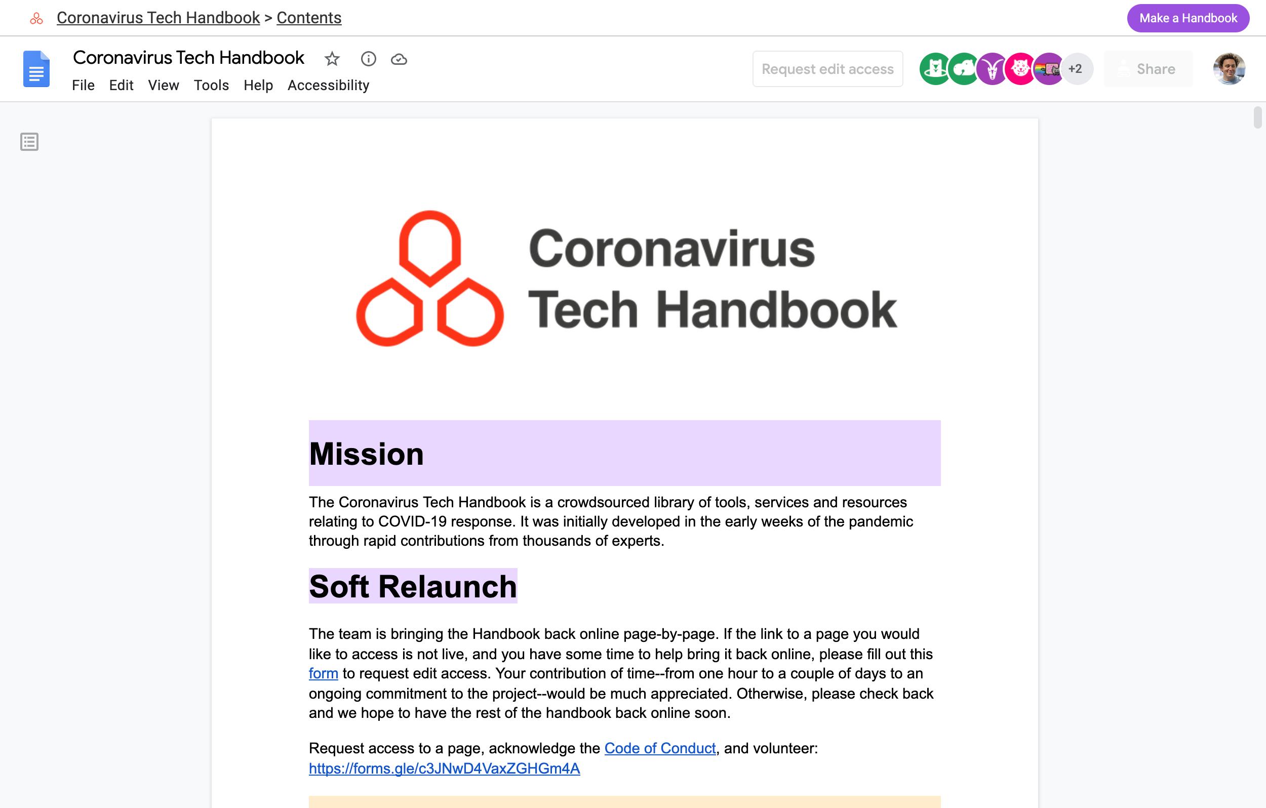 The Coronavirus Tech Handbook