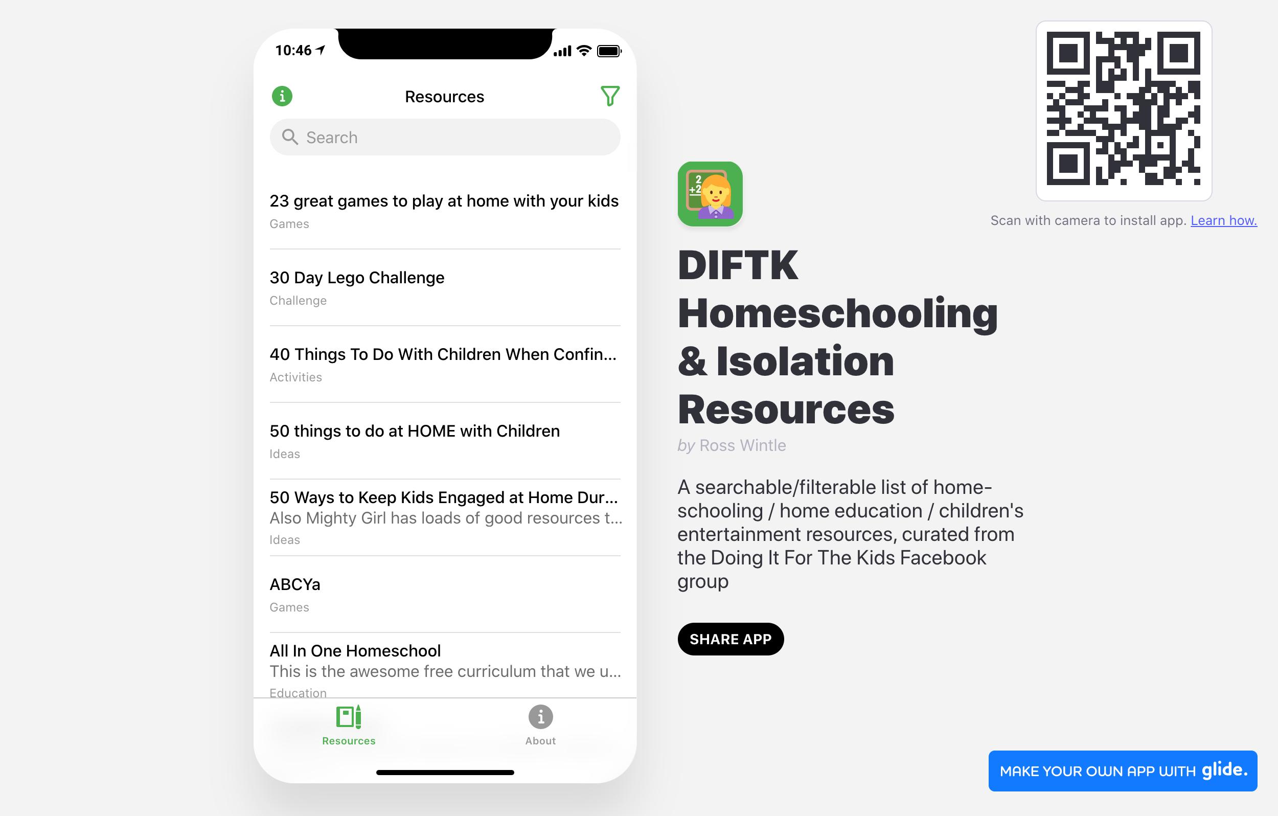 DIFTK Homeschooling & Isolation Resources