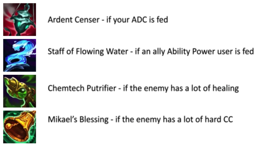 League of Legends LoL Ardent Censer Staff of Flowing Water Chemtech Putrifier Mikael's Blessing Lulu