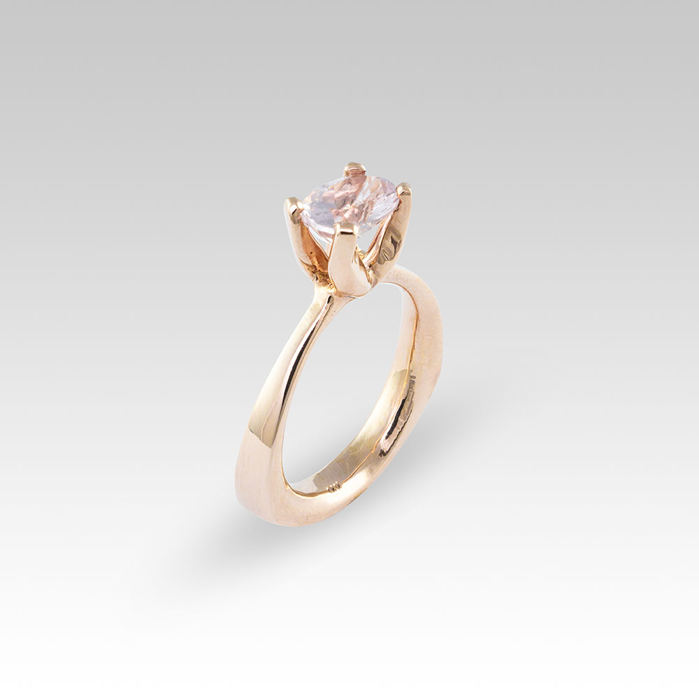 Morganite and Rose Gold Butter Ring™