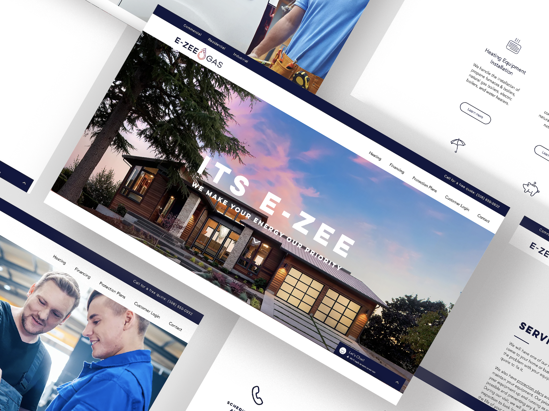 Web design for a Canadian gas services company
