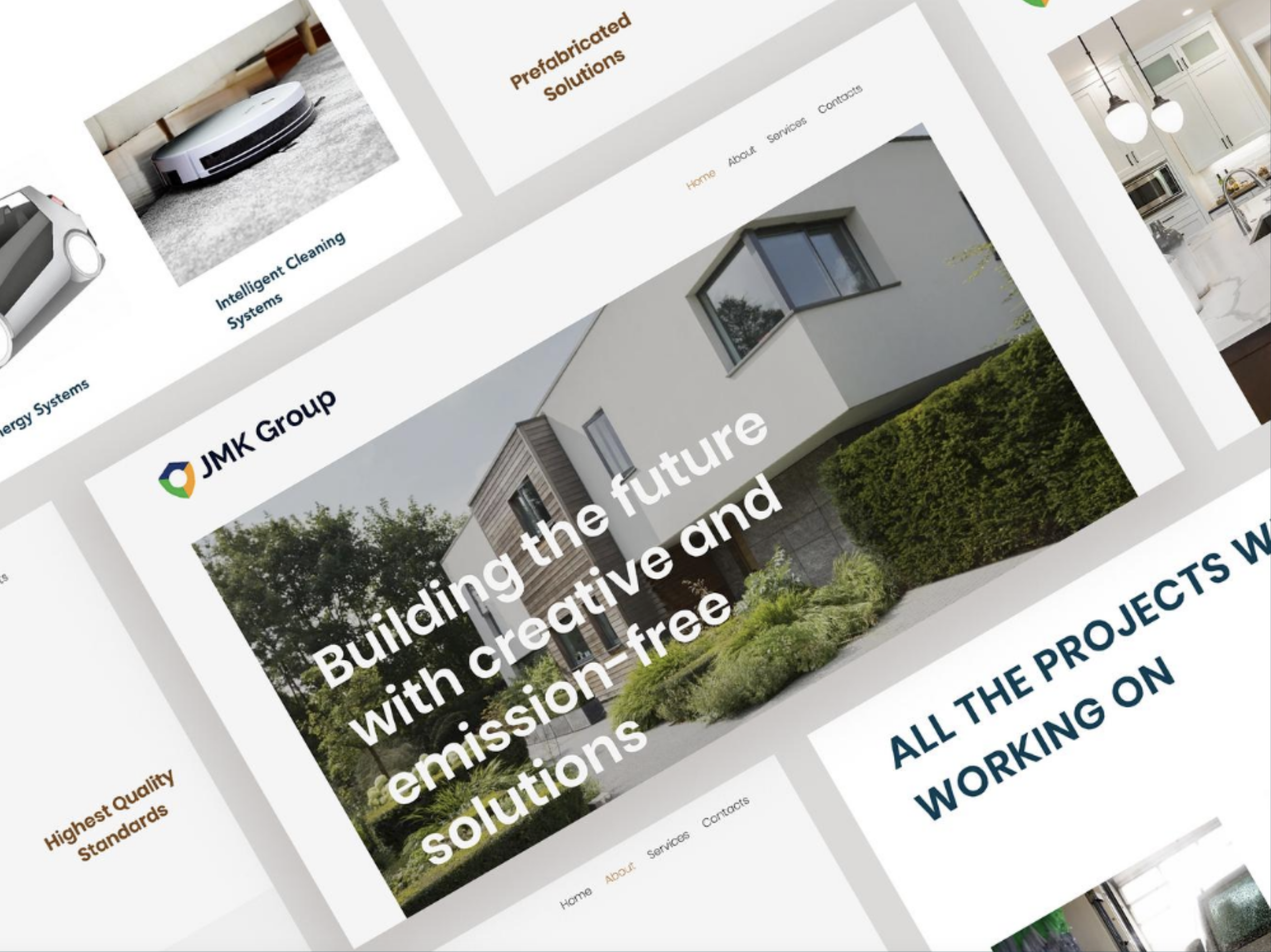 Web design for a modular housing solutions company