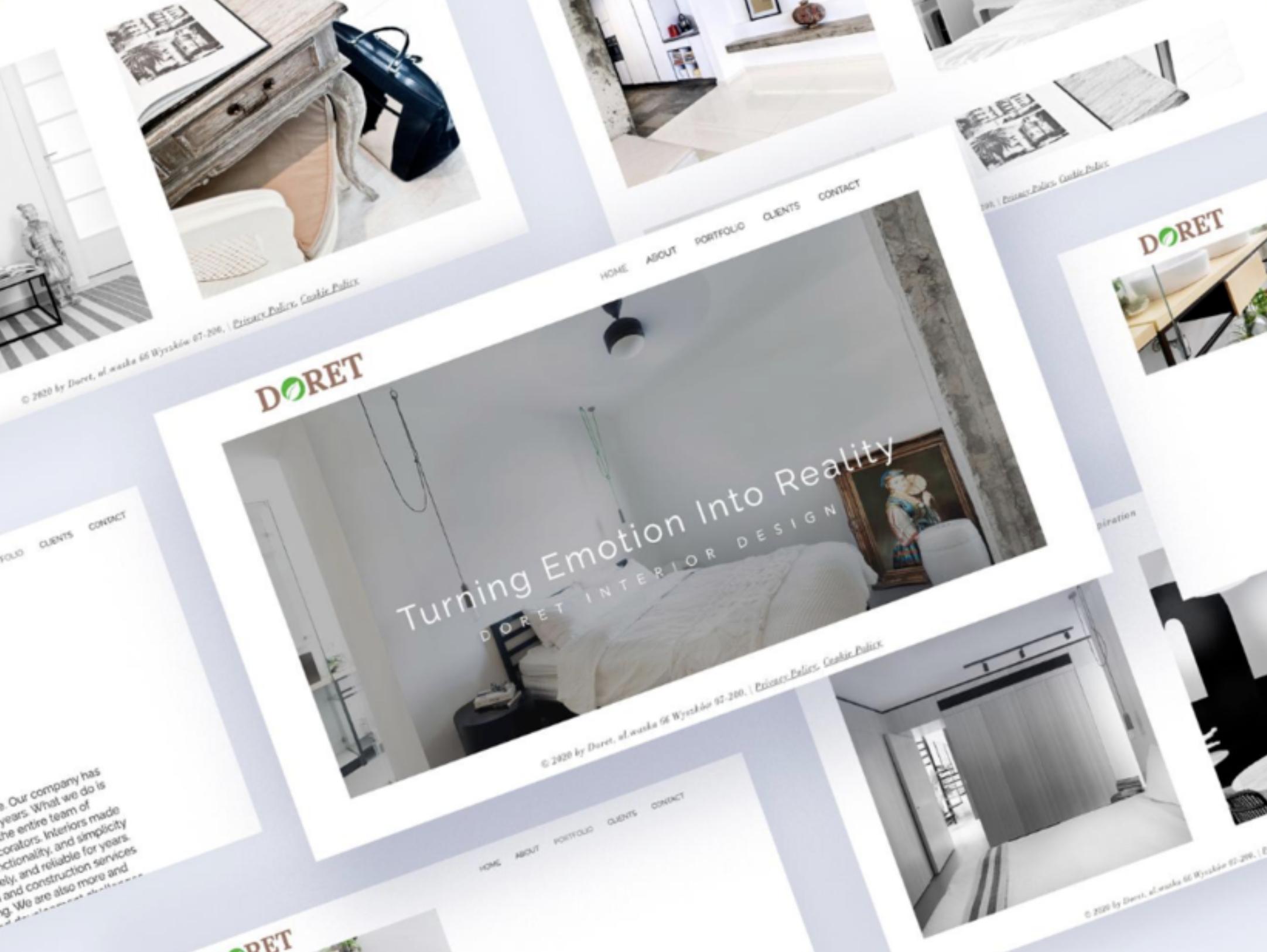 Web design for an interior design company