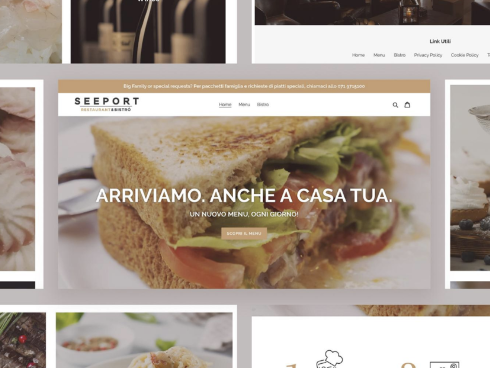 Ecommerce development of high-end food delivery bistrot