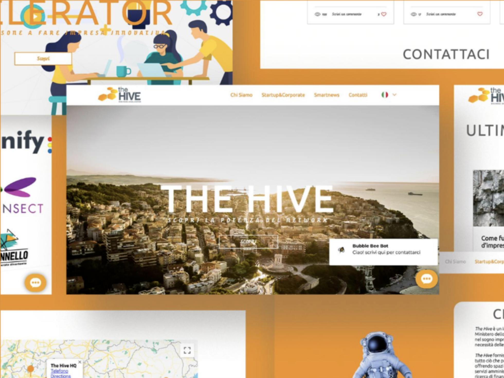 Web design of a business accelerator website with members area