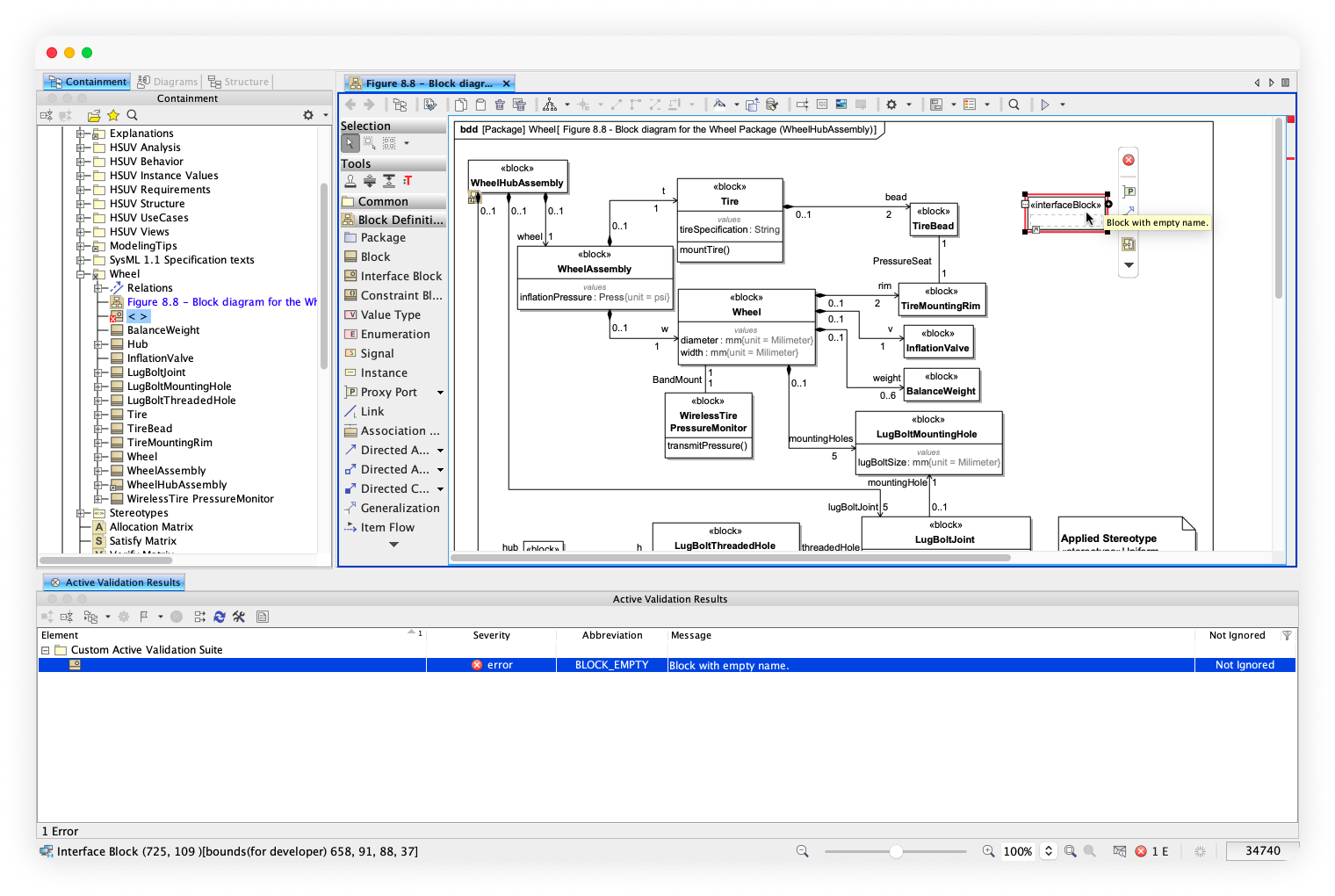 IncQuery Desktop offers fast validation even in complex, large projects. This is a screenshot from the tool about this.