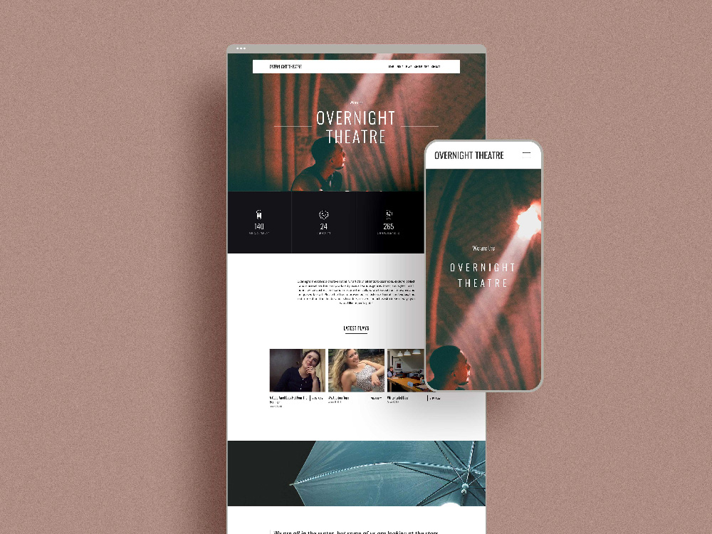 Overnight Theatre Website Design