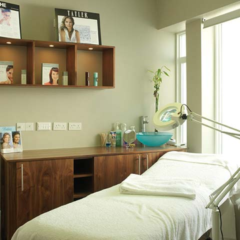 Beauty treatment room at Lotus Clinic
