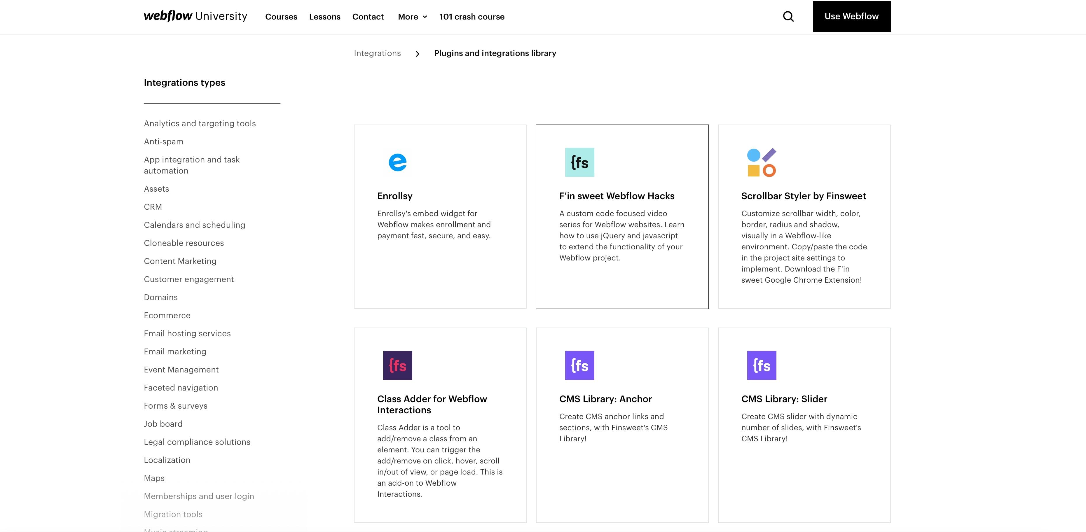 Webflow Plugins und Erweiterungen