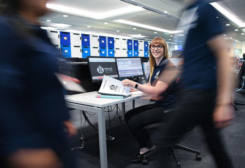 Police call centre staff