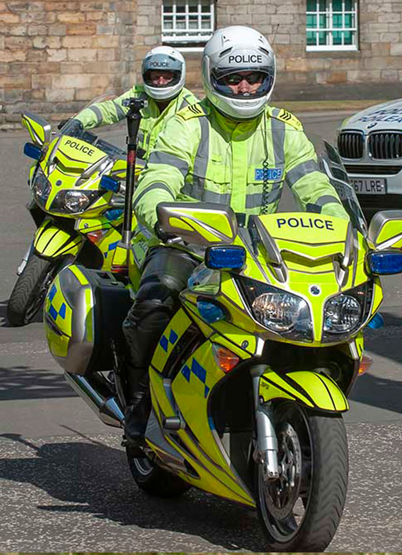 Two police motorcyclists