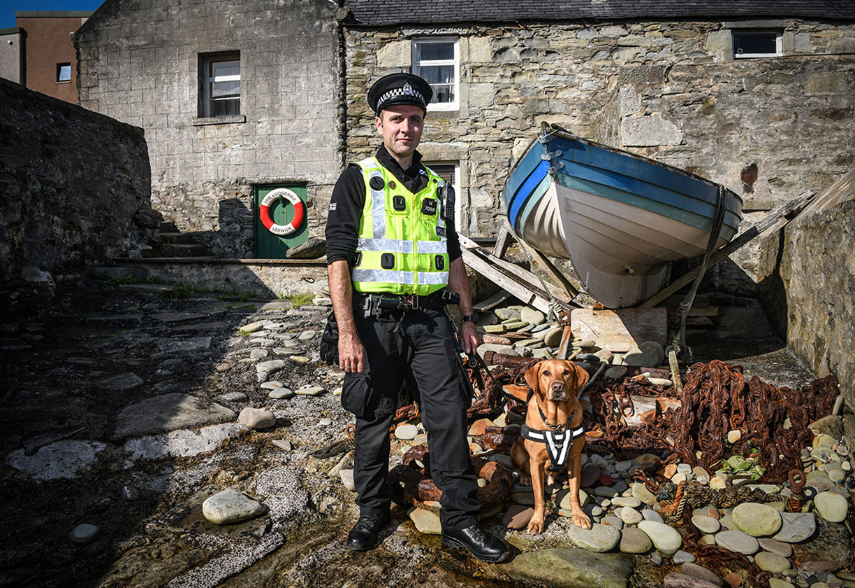 Policeman on Shetlands