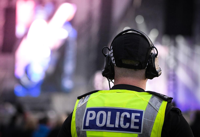 Police at summer festival