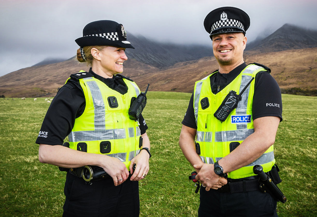 Two police officers on Skye