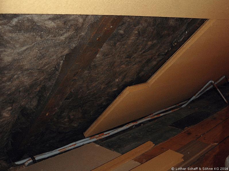 Dämmung des Dachbodens durch Holzfaserdämmstoff