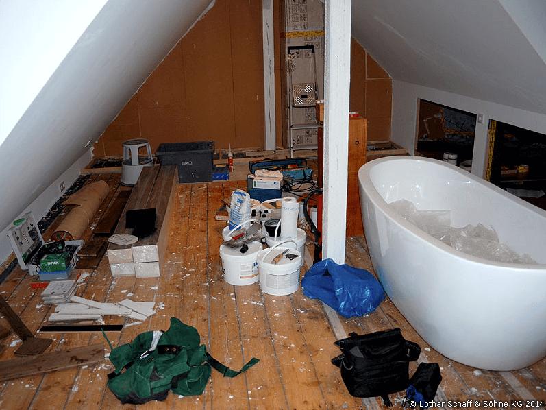 Arbeiten im Dachgeschoss und Boden
