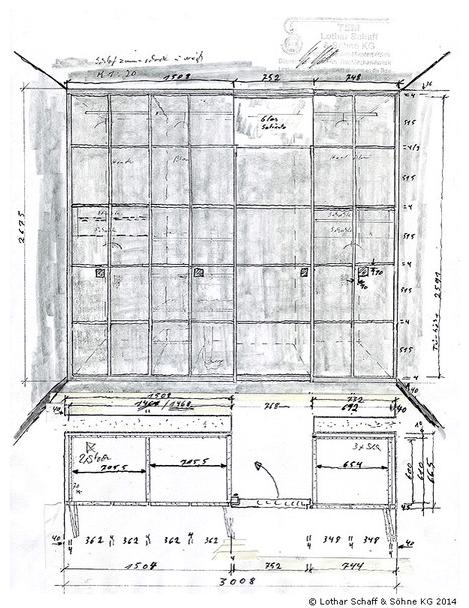 Skizze des Kleiderschrankes