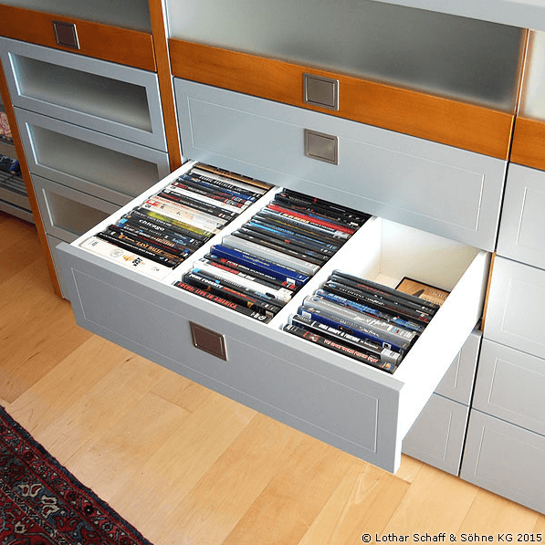 Schublade für CD-Sammlung