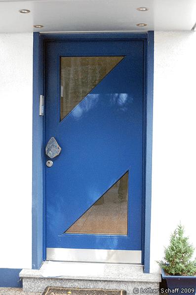 Haustür in 2 Farben mit Chinchilla-Glas