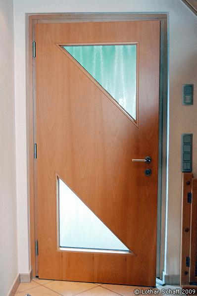 Haustür von Innen mit Chinchilla-Glas