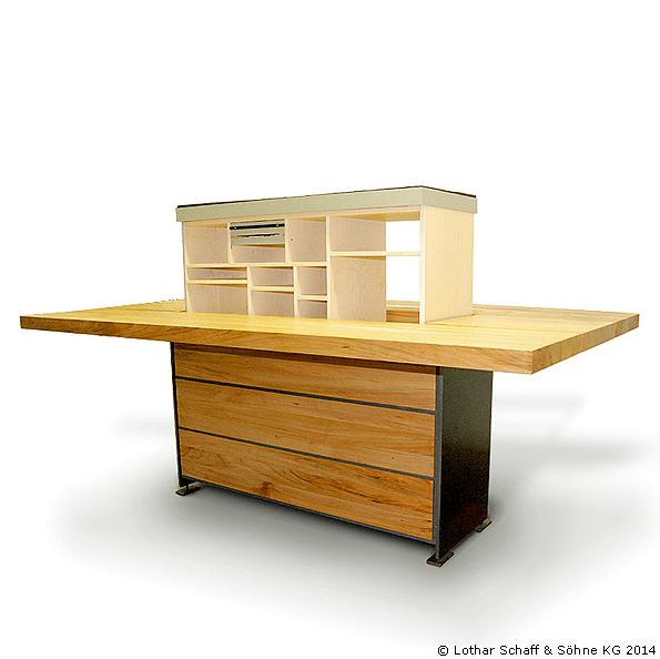 """Säulentisch mit Heizplatte """"Benny"""" - eine Konstruktion in Eigenentwicklung"""