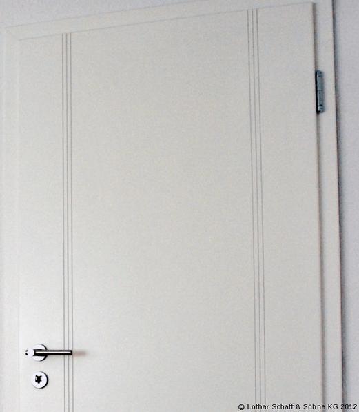 Weiße Innenansicht der Tür