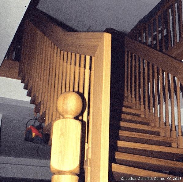 Neue Treppe aus Eiche
